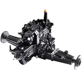 Two-wheel steer hydrostatic transaxle