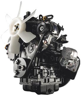 17.9-kW (24-hp) diesel engine