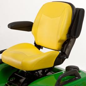 Left armrest in raised position