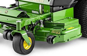 Deep-deck mower design