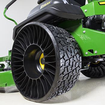 Michelin X Tweel Turf tire, left rear