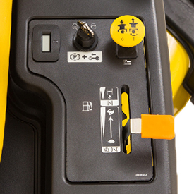 Color-coded controls are easy to identify