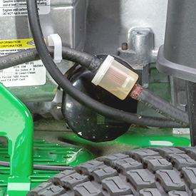 Replaceable oil filter and fuel filter