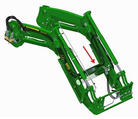 Location of the loader suspension