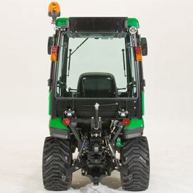 Comfort cab (shown from rear of tractor)