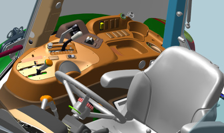 Right-hand console and controls