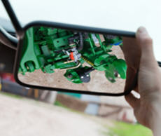 Rearview mirror to view the hitch