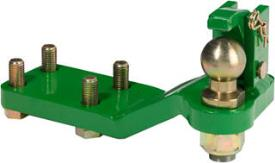 Forced steering system, right-hand side, for height-adjustable ball-type wagon hitch