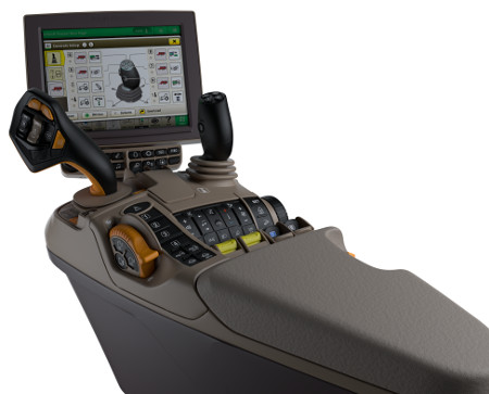 Everything is within easy reach on the CommandARM™ console