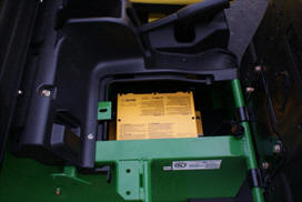 Onboard battery charger (detail)