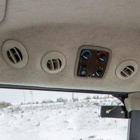 Comandi e bocchette riscaldamento e condizionamento aria