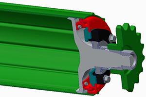 Protezione dei cuscinetti tramite curvatura e guarnizione di tenuta in plastica a labbri