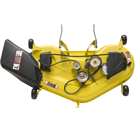 Sistema di taglio Edge™ da 122 cm (48 in.) (protezione rimossa per mostrare la trasmissione del tosaerba)