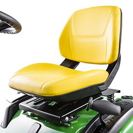 Comodo sedile con schienale aperto
