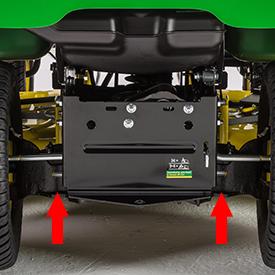 Sistema di montaggio dell'attrezzatura posteriore
