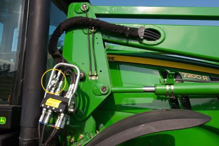 Valvola idraulica di arresto con collegamento idraulico a punto singolo