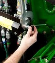 Azionamento della manopola di scarico della pressione idraulica