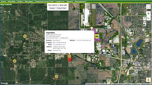 Quickly identify sensitive crop locations in relation to application areas