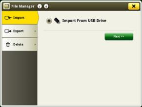 Options available in file manger