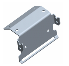 Combine StarFire position receiver bracket