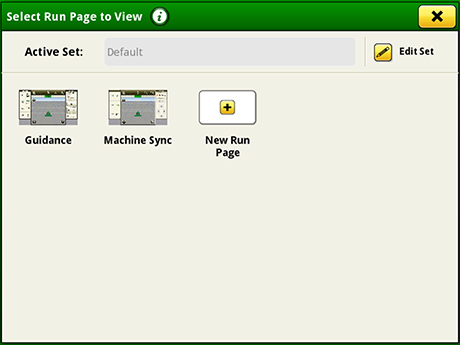Layout Manager selection page
