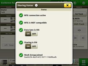 Checking sharing status