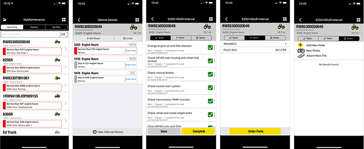 MyMaintenance lets operators track and make notes from their mobile device