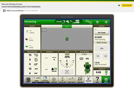 Remotely view a machine's display to assist operators in the field