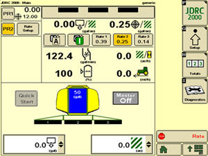 "Variable Rate Application | Rate Controller 2000 | John Deere US on john deere starters diagrams, john deere 310e backhoe problems, john deere electrical diagrams, john deere repair diagrams, john deere 3020 diagram, john deere fuse box diagram, john deere 345 diagram, john deere power beyond diagram, john deere 212 diagram, john deere cylinder head, john deere chassis, john deere tractor wiring, john deere fuel system diagram, john deere 42"" deck diagrams, john deere rear end diagrams, john deere gt235 diagram, john deere voltage regulator wiring, john deere fuel gauge wiring, john deere riding mower diagram, john deere sabre mower belt diagram,"