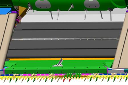 Center crop flow divider