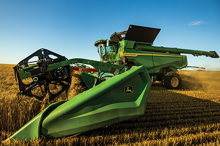X Series Combine with 50-ft (15.2-m) Hinged Draper