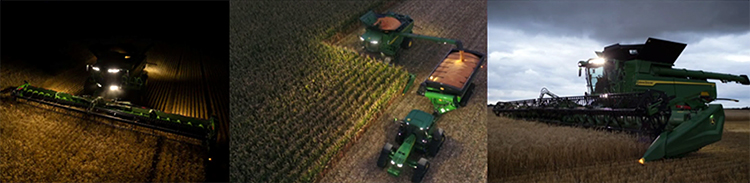 X Series harvesting in the early morning and late at night