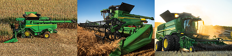 X Series harvesting corn, wheat, and canola