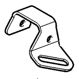 Left-hand front tie-down bracket illustration