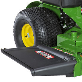 Flexible mower-discharge deflector