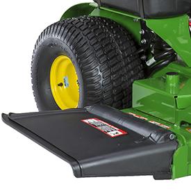 Flexible mower-discharge deflector
