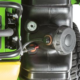 Fuel cap, gauge, and shutoff valve