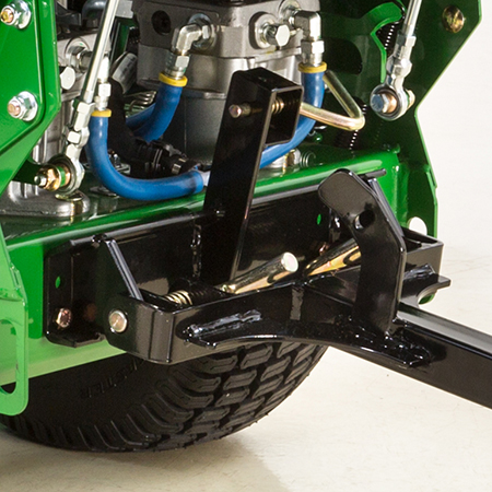 Sulky mounting system and latch