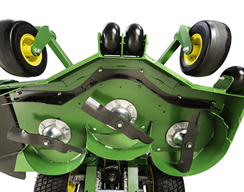 Mower deck underside (similar W48M mower shown)