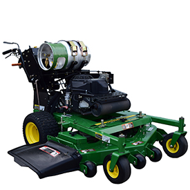 Propane conversion kit on a Walk-Behind Mower