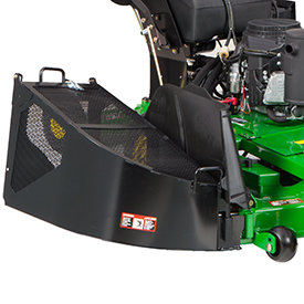 Grass collector mounted on mower