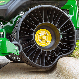 Flat-free rear tire on ZTrak Mower