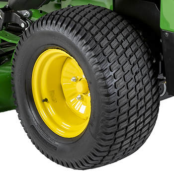 Pneumatic rear drive wheel