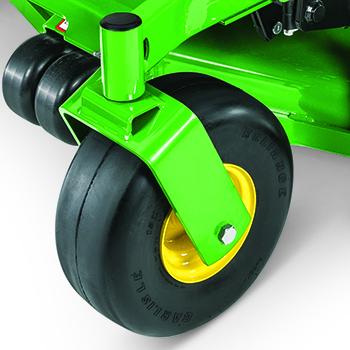 Run flat front caster wheel