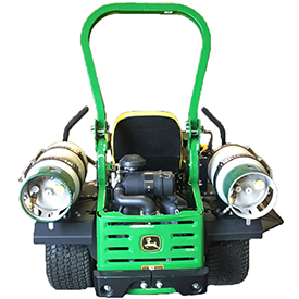 Dual propane tank shown on ZTrak Mower