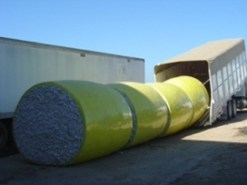 Module truck loading round modules