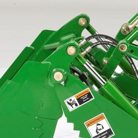 Sturdy hinges help prevent implement wear and tear