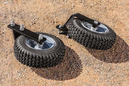 30.5-cm (12-in.) diameter transport wheels included in the kit