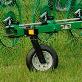 Rake beam support wheel