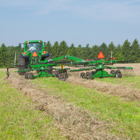 Dual windrow